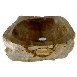 Vasque à poser en Bois Fossilisé da58-47x46cm