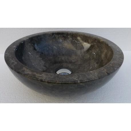 Vasque en marbre polie gris 30x30cm H.12cm mr12p