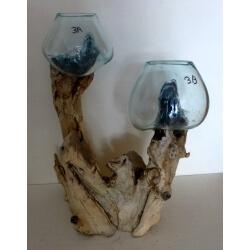 Double vase ou aquarium 3B