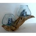 Double vase ou aquarium 25AB