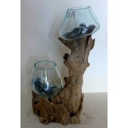 Double vase ou aquarium 10AB