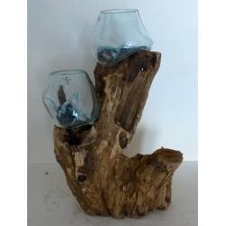 Double vase ou aquarium 32AB
