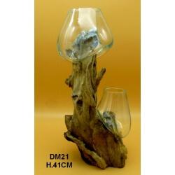 Double vase ou aquarium GM21