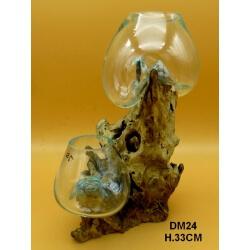 Double vase ou aquarium GM24