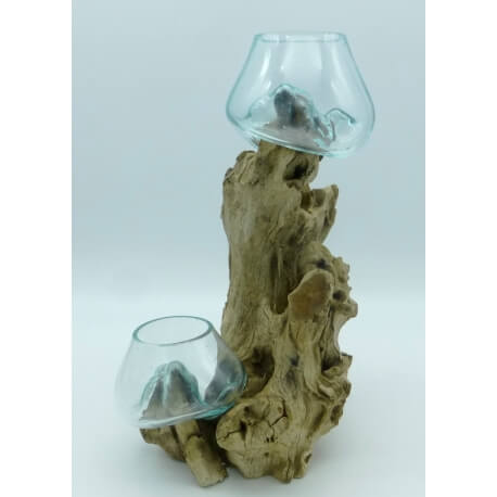 Double vase ou aquarium DOS10