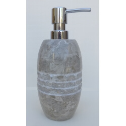 Distributeur savon en marbre gris gravé