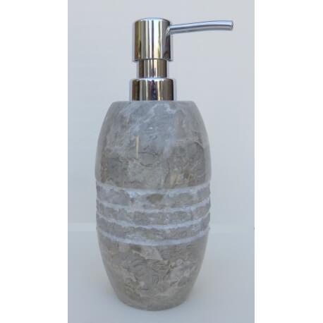 dispensador de jabón gris