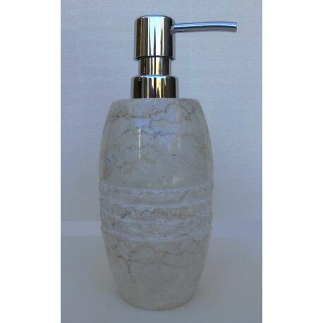 dispensador de jabón blanco